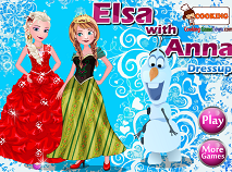 Elsa with Anna Dress Up