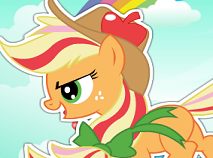 Rainbow Power Applejack Dress Up