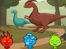 Baiatul de Foc si Fata de Apa si Dinozaurii