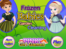 Frozen Babies Garden Cleaning