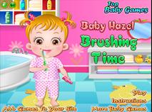 Bebelusul Hazel se Spala pe Dinti