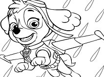Skye Coloring Page