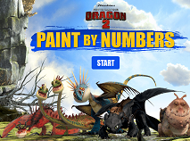 How to Train Your Dragon Paint by Numbers