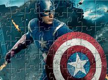 Capitanul America in Actiune Puzzle
