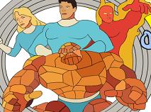 Fantastic Four Coloring