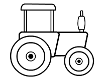 Tractor Coloring Pad