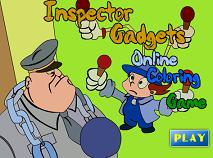 Coloreaza-l pe Inspector Gadget
