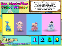 Doc McStuffins Colors Memory