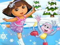 Dora's Ice Skating Spectacular Game