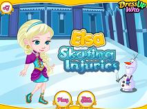 Elsa Accident la Patinaj