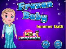 Frozen Baby Summer Bath