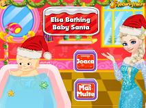 Elsa Bathing Baby Santa