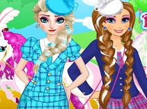 Elsa si Ana de Imbracat pentru Scoala