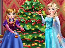 Elsa si Anna Impodobesc Bradul