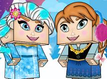 Elsa si Anna Minecraft de Imbracat