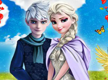 Elsa and Jack Frost Kissing