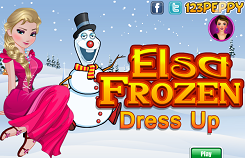 Frozen Elsa and Olaf Dress Up