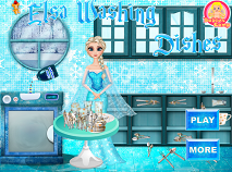Elsa Washing Dishes 2