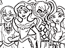 DC Super Hero Girls Coloring Game
