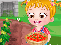 Fetita Hazel la Ferma de Rosii