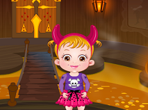 Fetita Hazel si Castelul de Halloween