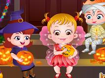 Fetita Hazel si Petrecerea de Halloween