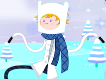 Finn Dress up for Winter