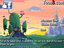 Adventure Time Hidden Letters
