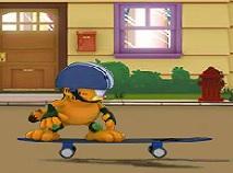 Garfield cu Skateboard-ul