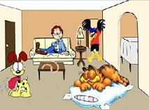 Garfield si Familia Puzzle