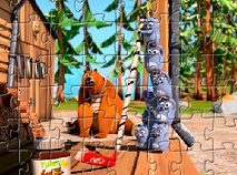 Grizzy si Lemingii Puzzle