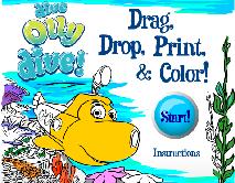 Dive Olly Dive: Drag, Drop, Print & Color