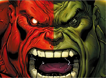 Red VS Green Hulk Sliding Puzzle