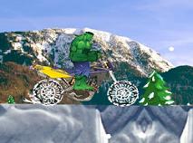 Hulk cu Motocicleta pe Zapada