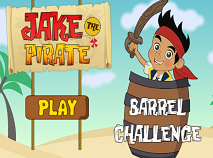 Jake the Pirates Barrel Challenge