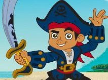 Jake and the Neverland Pirates Coloring Game