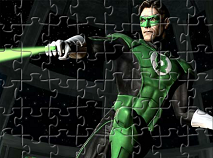 Green Lantern Fighting Puzzle
