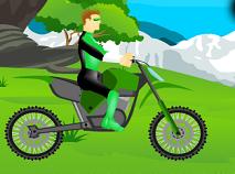 Lanterna Verde cu Motocicleta