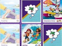 Lego Friends Summer Matching