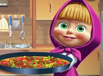 Masha Cooking Tortilla Pizza
