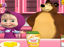 Masha and the Bear Cooking Chocolate Cookies