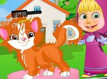 Masha Kitten Summer Party Haircut