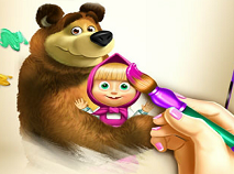 Masha si Ursul Cartea de Colorat