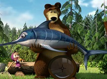 Masha and the Bear Gone Fishing Spot the Numbers