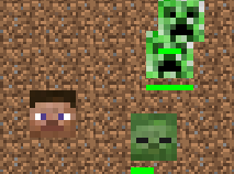 Minecraft Steve vs Creeper