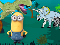 Minionii in Jurasic Park