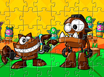 Mixels Gobba si Chomly Puzzle