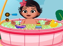Baby Moana Shower Bath