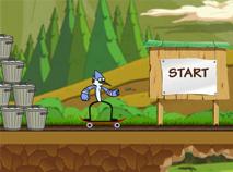Mordecai cu Skateboard-ul