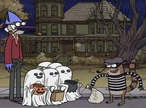 Mordecai si Rigbi de Halloween Puzzle